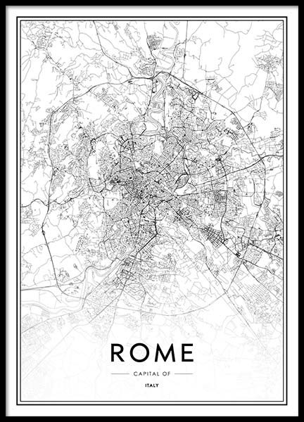 Rome Map Poster in the group Posters & Prints / Maps & cities at Desenio AB (2048)