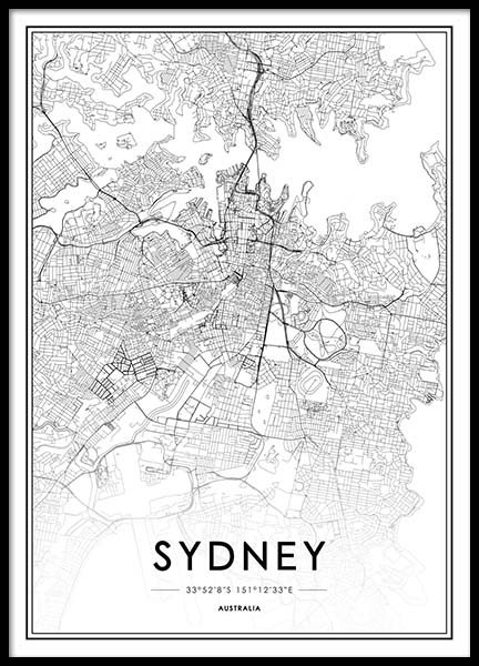 Sydney Poster in the group Posters & Prints / Black & white at Desenio AB (2055)