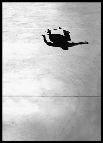 Skate Shadow Poster in the group Posters & Prints / Kids posters at Desenio AB (2068)