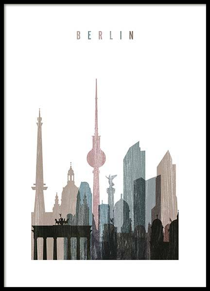 Berlin Skyline Poster in the group Posters & Prints / Handpicked / Art Prints Vicky at Desenio AB (2143)
