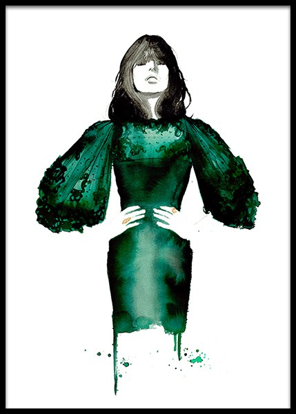 The Emerald Dress Poster in the group Posters & Prints / Art prints at Desenio AB (2145)