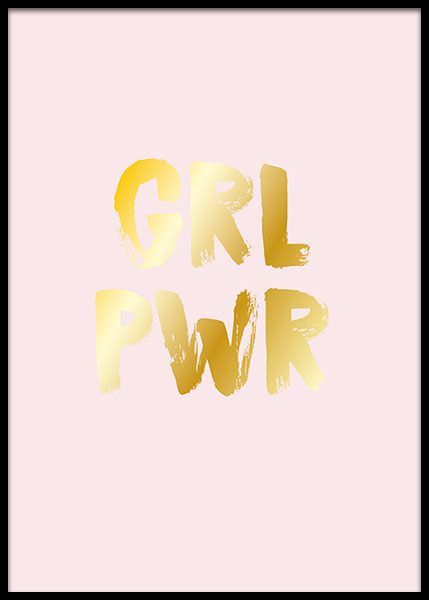 Girl Power Gold  Poster in the group Posters & Prints / Text posters at Desenio AB (2207)
