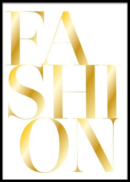 Fashion Gold  Poster in the group Posters & Prints / Gold & silver at Desenio AB (2209)