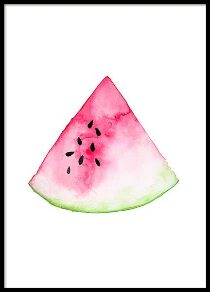 Watermelon Aquarelle  Poster in the group Posters & Prints / Kids posters at Desenio AB (2221)