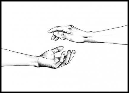 Reaching Hands Poster