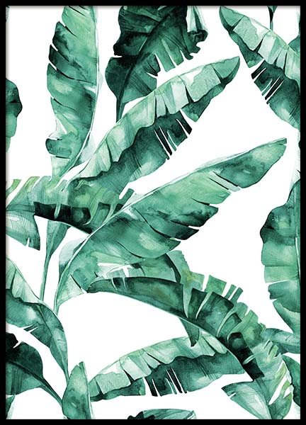 Banana Leaves Pattern Poster in the group Posters & Prints / Botanical at Desenio AB (2285)