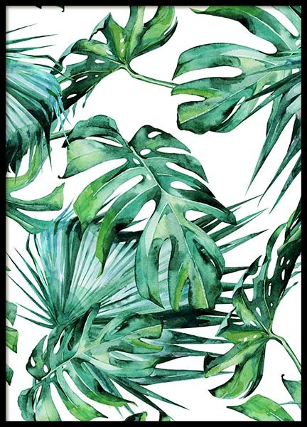 Tropical Leaves Pattern Poster in the group Posters & Prints / Art prints at Desenio AB (2287)