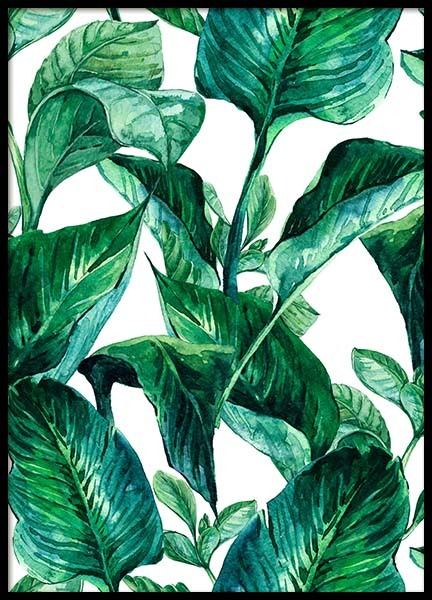 Green Leaves Pattern Poster in the group Posters & Prints / Art prints at Desenio AB (2288)