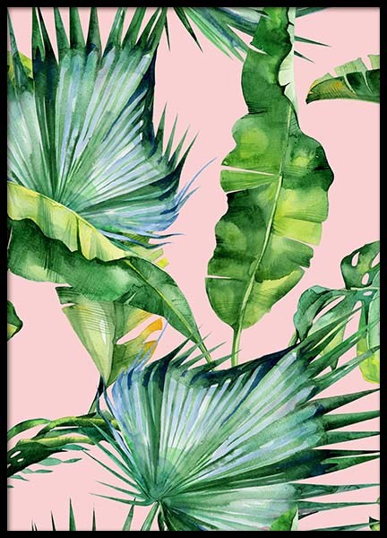 Tropical pattern Poster in the group Posters & Prints / Sizes / 50x70cm | 20x28