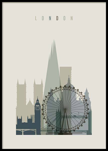 London Skyline Poster in the group Posters & Prints / Graphical at Desenio AB (2356)