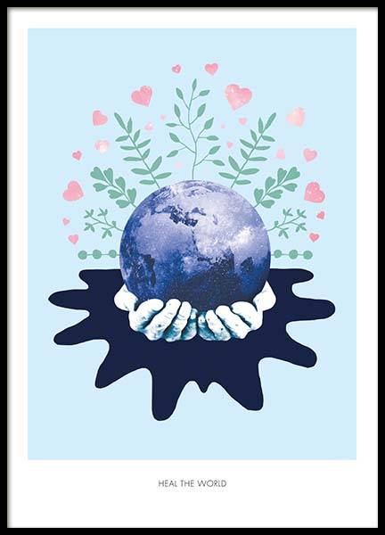 Heal The World Poster in the group Posters & Prints / Illustrations at Desenio AB (2366)