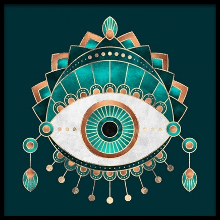 Teal Eye Poster in the group Posters & Prints / Graphical at Desenio AB (2375)