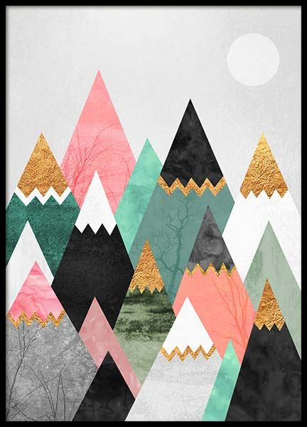 Pretty Mountains Poster in the group Posters & Prints / Graphical at Desenio AB (2379)