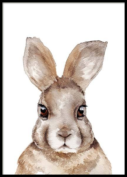 Rabbit Portrait Poster in the group Posters & Prints / Kids posters at Desenio AB (2397)