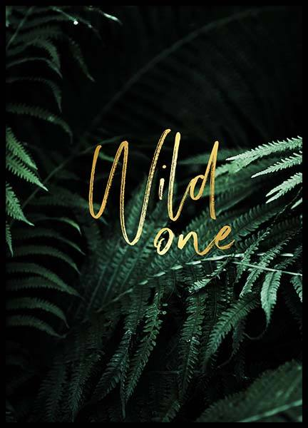 Wild One Poster in the group Posters & Prints / Sizes / 30x40cm | 12x16 at Desenio AB (2401)