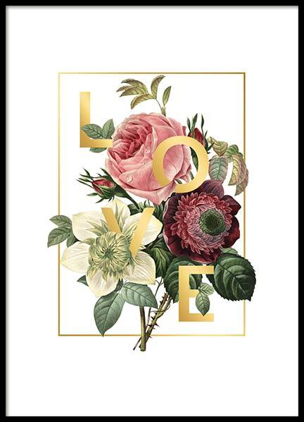 Love Flowers Poster in the group Posters & Prints / Botanical at Desenio AB (2404)