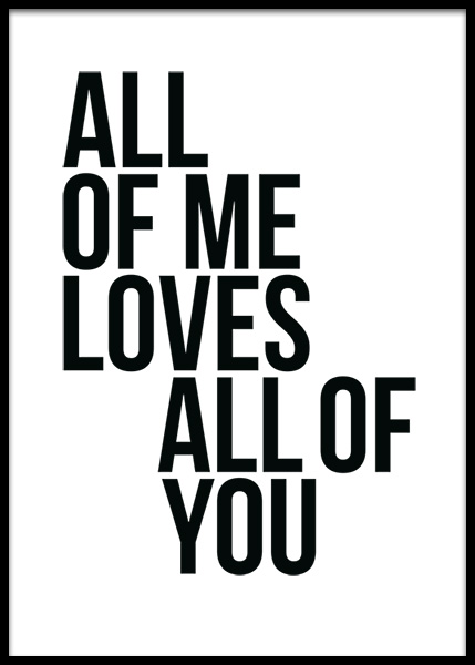 All Of Me Poster in the group Posters & Prints / Typography & quotes at Desenio AB (2408)