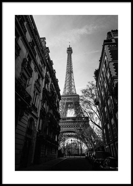 Street Of Paris Poster in the group Posters & Prints / Black & white at Desenio AB (2446)