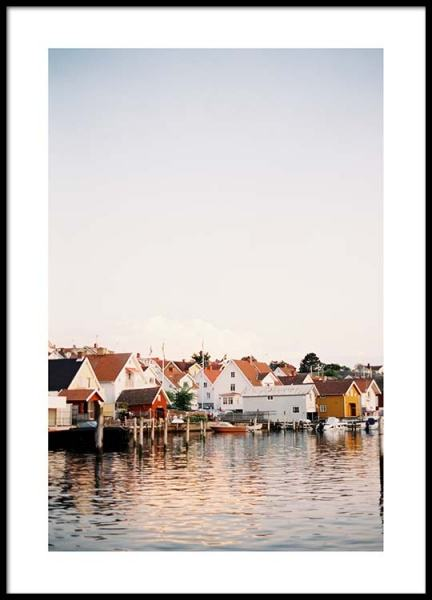 Boathouses Poster in the group Posters & Prints / Nature at Desenio AB (2458)