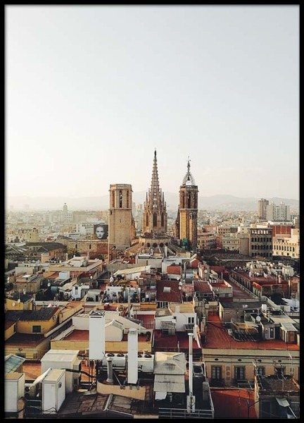 Barcelona Cityscape Poster in the group Posters & Prints / Photography at Desenio AB (2467)