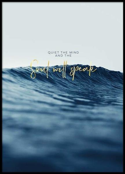 Quiet The Mind Poster