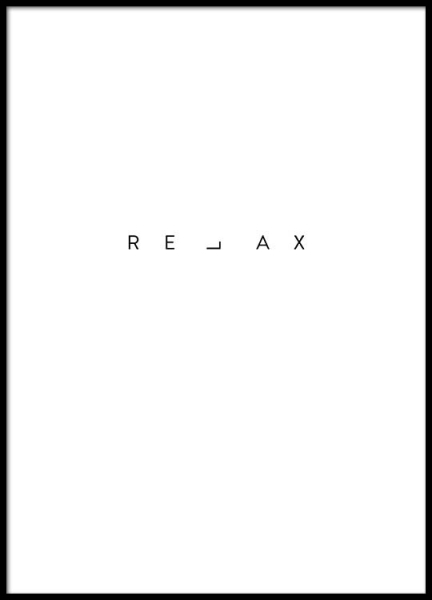 Relax Print Poster in the group Posters & Prints / Text posters at Desenio AB (2482)