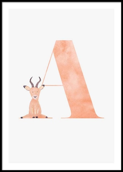 Alphabet A Poster in the group Posters & Prints / Kids posters at Desenio AB (2493)