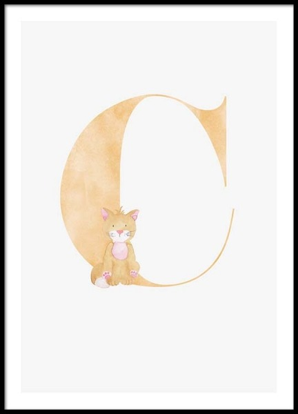 Alphabet C Poster in the group Posters & Prints / Kids posters at Desenio AB (2495)