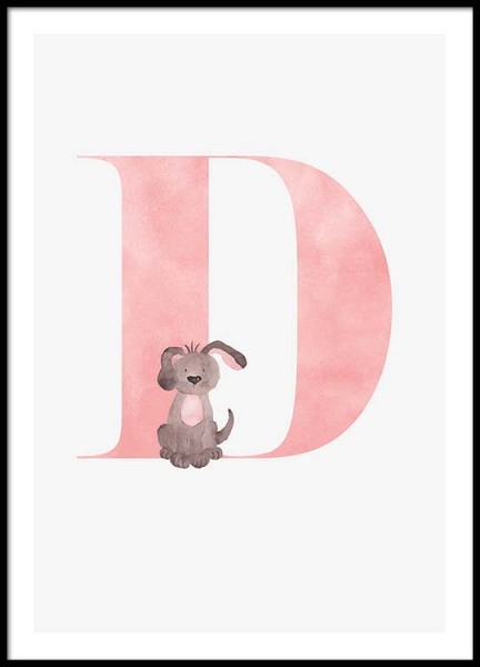 Alphabet D Poster in the group Posters & Prints / Kids posters at Desenio AB (2496)