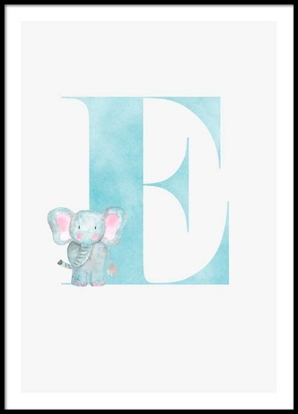 Alphabet E Poster in the group Posters & Prints / Kids posters at Desenio AB (2497)