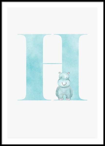 Alphabet H Poster in the group Posters & Prints / Kids posters at Desenio AB (2500)
