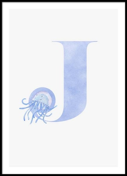 Alphabet J Poster in the group Posters & Prints / Kids posters at Desenio AB (2502)