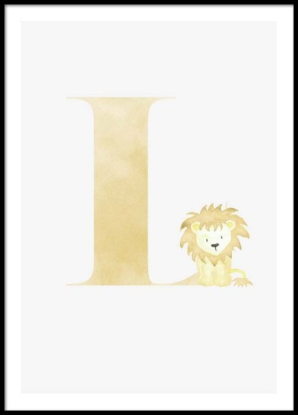 Alphabet L Poster in the group Posters & Prints / Kids posters at Desenio AB (2504)