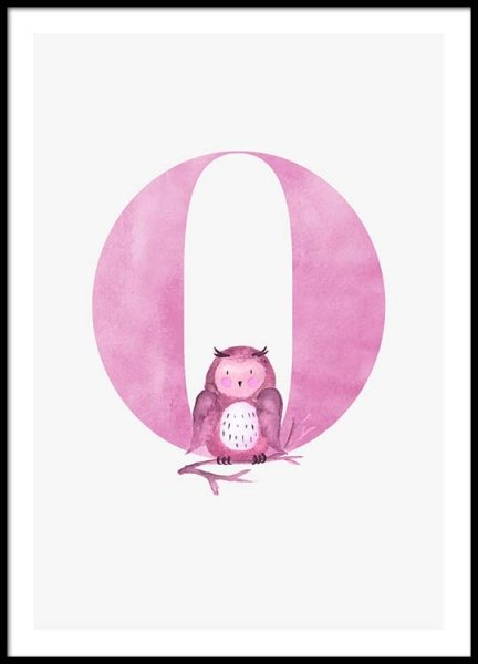 Alphabet O Poster in the group Posters & Prints / Kids posters at Desenio AB (2507)