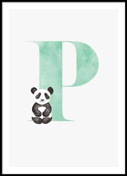 Alphabet P Poster in the group Posters & Prints / Kids posters at Desenio AB (2508)