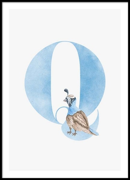 Alphabet Q Poster in the group Posters & Prints / Kids posters at Desenio AB (2509)