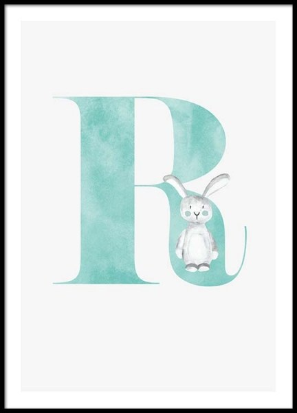 Alphabet R Poster in the group Posters & Prints / Kids posters at Desenio AB (2510)
