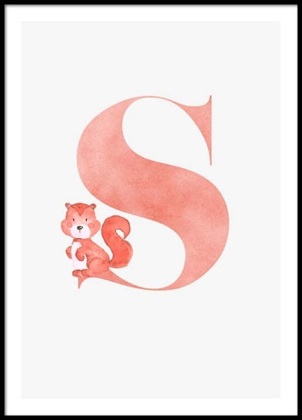 Alphabet S Poster in the group Posters & Prints / Kids posters at Desenio AB (2511)