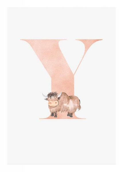Alphabet Y Poster in the group Posters & Prints / Kids posters at Desenio AB (2517)