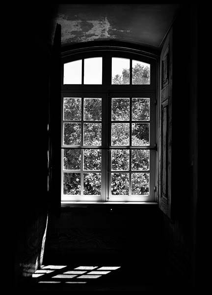 Window View Poster in the group Posters & Prints / Black & white at Desenio AB (2547)