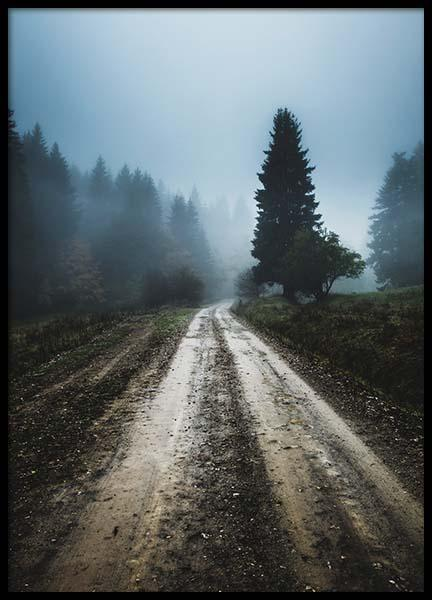 Foggy Road Poster in the group Posters & Prints / Nature at Desenio AB (2557)