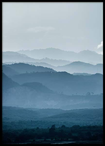 Mountain layers Poster in the group Posters & Prints / Sizes / 50x70cm | 19,7x27,6 at Desenio AB (2558)