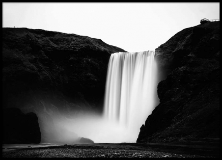 Skógafoss Waterfall Poster in the group Posters & Prints / Nature at Desenio AB (2561)