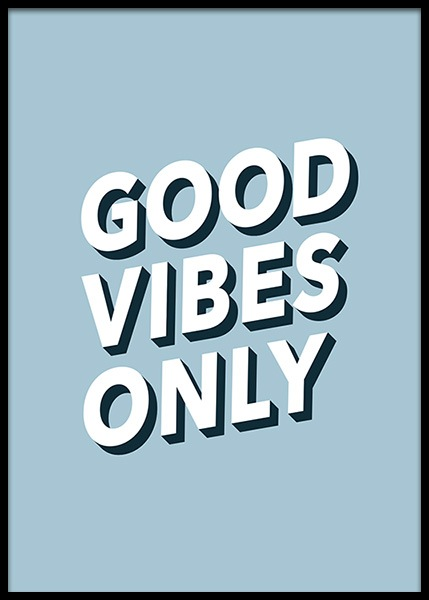 Good Vibes No2 Poster in the group Posters & Prints / Text posters at Desenio AB (2613)
