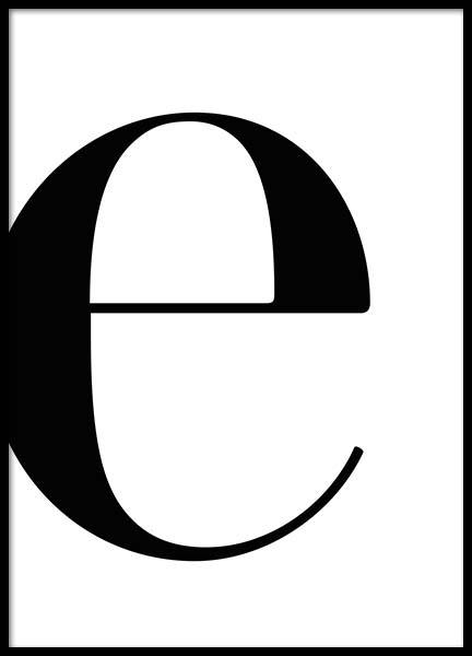 Letter E Poster in the group Posters & Prints / Text posters at Desenio AB (2618)