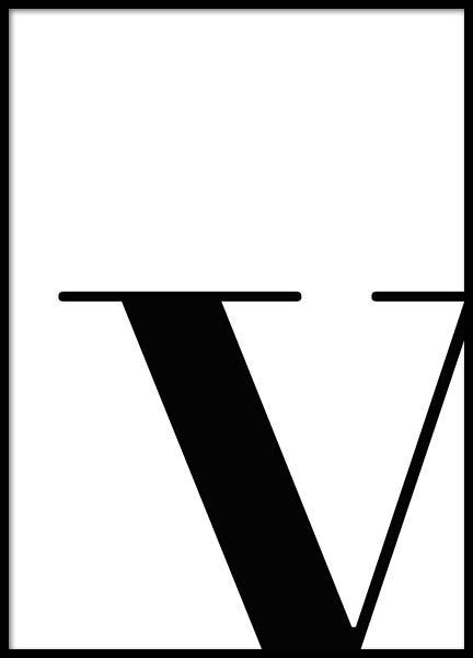 Letter V Poster in the group Posters & Prints / Typography & quotes at Desenio AB (2635)