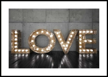 Love Sign Poster in the group Posters & Prints / Text posters at Desenio AB (2689)