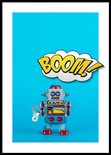 Boom Robot Poster in the group Posters & Prints / Kids posters at Desenio AB (2693)