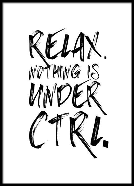Ctrl Poster in the group Posters & Prints / Typography & quotes at Desenio AB (2694)