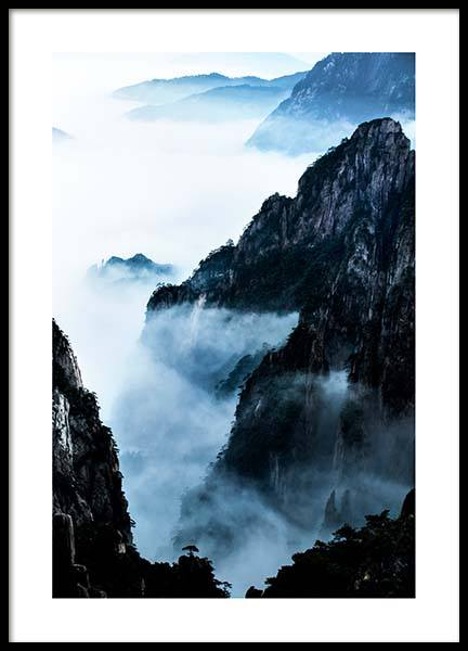 Blue Rocky Mountains Poster in the group Posters & Prints / Nature at Desenio AB (2702)